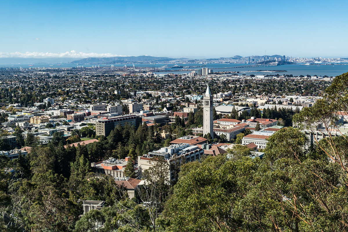 View of Berkeley Campus to the bay.